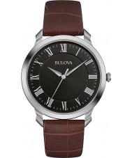 Bulova 96A184 Mens jurk bruine lederen band horloge
