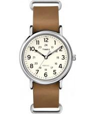 Timex T2P492 Weekender bruine lederen band horloge