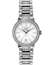 Rotary LB90081-02L Ladies les originales zilveren horloge