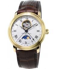 Frederique Constant FC-335MC4P5 Mens klassiekers maanstand bruine lederen band horloge