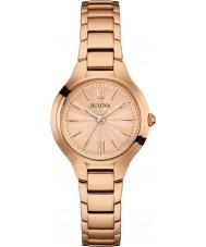 Bulova 97L151 Dames jurk rose goud verguld horloge