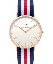 Daniel Wellington DW00100002 Heren Classic 40mm Canterbury nam gouden horloge
