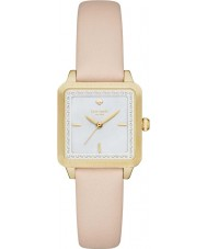 Kate Spade New York KSW1113 Ladies Washington vierkant crème lederen band horloge