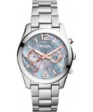 Fossil ES3880 Ladies perfecte vriendje grijze zilveren horloge