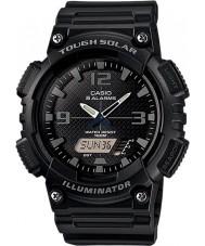 Casio AQ-S810W-1A2VEF Collectie zwarte Tough Solar wereld tijd horloge