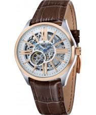 Thomas Earnshaw ES-8037-04 Mens armagh bruine croco lederen band horloge