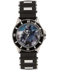 Disney SWM3076 Jongens storm trooper horloge met zwarte siliconen band
