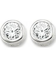 Thomas Sabo H1663-051-14 Dames zilveren oorbellen met wit zirkoon