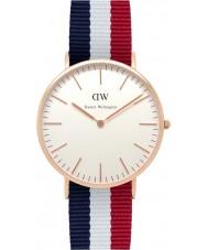 Daniel Wellington DW00100003 Mens klassieke 40mm Cambridge nam gouden horloge