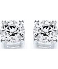 Purity 925 P1640ES1 Ladies sterling zilveren kleine oorbellen met swarovski-kristallen