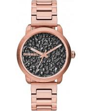 Diesel DZ5427 Ladies flare gunmetal rose gouden horloge