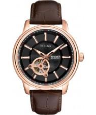 Bulova 97A109 Mannen nam gouden bruin mechanisch horloge