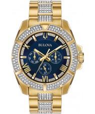 Bulova 98C128 Mens kristal horloge