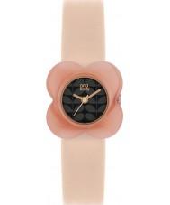 Orla Kiely OK2060 Ladies papaver roze bloem geval naakt lederen band horloge