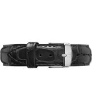Daniel Wellington DW00200133 Dapper 17mm lezen zilver reserveonderdelen riem