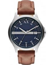 Armani Exchange AX2133 Heren bruin lederen band jurk horloge