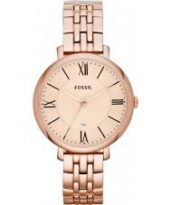Fossil ES3435 Ladies jacqueline rose goud tone stalen armband horloge