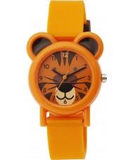 Tikkers TK0090 Jongens oranje silicone tijger horloge