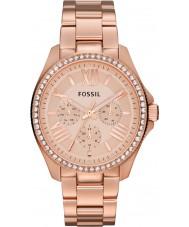 Fossil AM4483 Ladies cecile rose goud staal chronograafhorloge