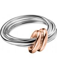 Calvin Klein KJ5HMR2001 Ladies wendbare two tone rose goud verguld ring - size L.5 (6)