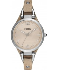 Fossil ES2830 Ladies Georgië zand lederen band horloge