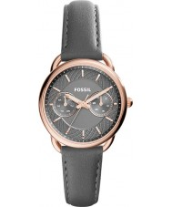 Fossil ES3913 Dames maat grijze lederen band horloge