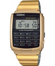 Casio CA-506G-9AEF Mens collectie goud toon calculator horloge