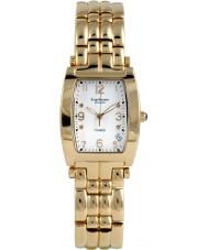 Krug-Baumen 1963DMG Tuxedo goud 4 diamond witte wijzerplaat gouden band