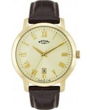 Rotary GS02462-03 Mens uurwerken sloane bruine lederen band horloge