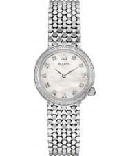 Bulova 96W206 Ladies diamanten zilveren stalen armband horloge