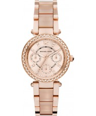 Michael Kors MK6110 Ladies mini parker rose goud vergulde armband horloge