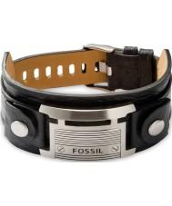 Fossil JF84816040 Mens vintage toevallige zwarte lederen armband