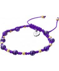 Shimla SH-910 Dames paars gesponnen armband