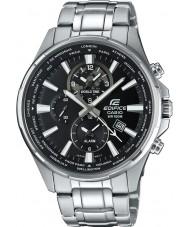 Casio EFR-304D-1AVUEF Mens bouwwerk wereld tijd zilver stalen horloge