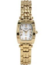 Krug-Baumen 1963DLG Tuxedo goud 4 diamond witte wijzerplaat gouden band