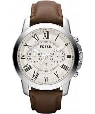 Fossil FS4735 Mens verlenen bruin chronograaf