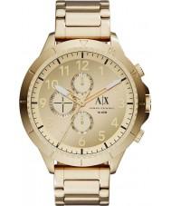 Armani Exchange AX1752 Heren vergulde armband chronograaf sporthorloge