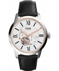 Fossil ME3104 Mens townsman automatische zwart lederen band horloge