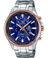 Casio EFR-304PG-2AVUEF Mens bouwwerk wereld tijd zilver stalen horloge