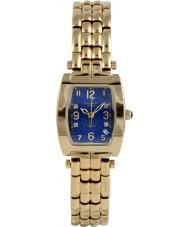 Krug-Baumen 1964DLG Tuxedo goud 4 diamond blauwe wijzerplaat gouden riem