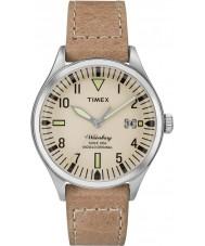 Timex TW2P84500 Mens waterbury mid size bruin lederen band horloge