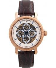 Krug Baümen 60252DM Mens majestueuze bruine lederen band horloge