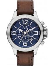 Armani Exchange AX1505 Heren stedelijke bruine lederen band chronograaf sporthorloge