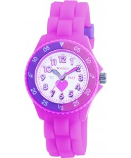 Tikkers TK0003 Kids roze rubber horloge