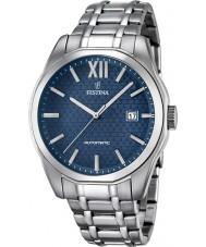 Festina F16884-3 Mens sportief zilver automatisch horloge