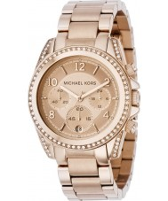 Michael Kors MK5263 Ladies blair rose goud chronograafhorloge