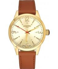Minster 1949 MN01GLGL10 Mens Crofton bruin lederen band horloge