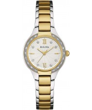 Bulova 98W221 Ladies diamant two tone stalen armband horloge