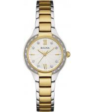 Bulova 98W221 Ladies diamant two tone stalen armband horloge