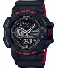 Casio GA-400HR-1AER Mens G-SHOCK wereldtijd zwarte combi horloge